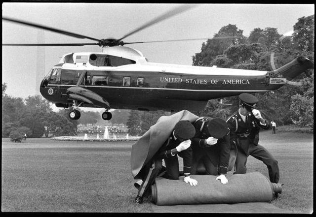Annie Leibovitz, Nixon quitte la Maison Blanche en 1972 © Annie Leibovitz