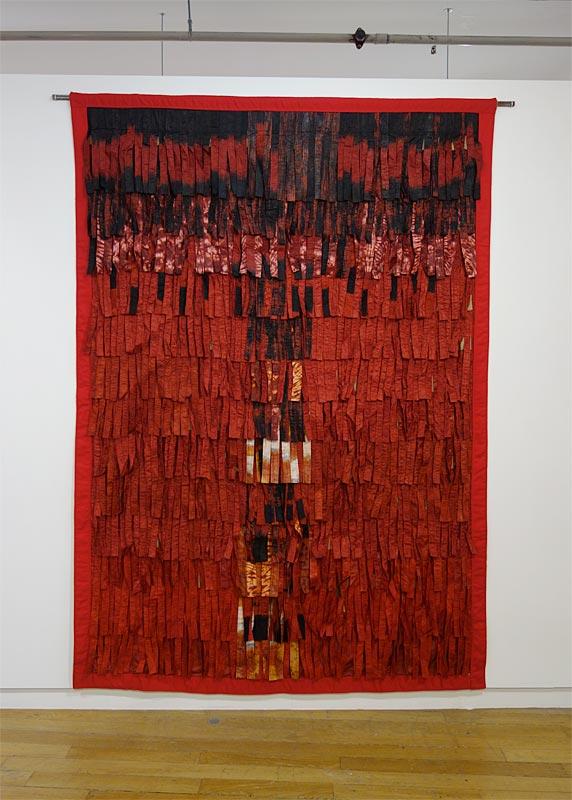 Abdoulaye Konaté, Plumage ocre, 2012 - Beautiful Africa à la Galerie du 5e – Marseille