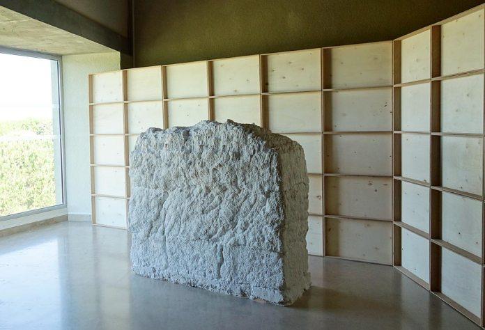Arnaud Vasseux, Sans titre (mur test), 2017 - Du double au singulier au Site archéologique Lattara - musée Henri Prades