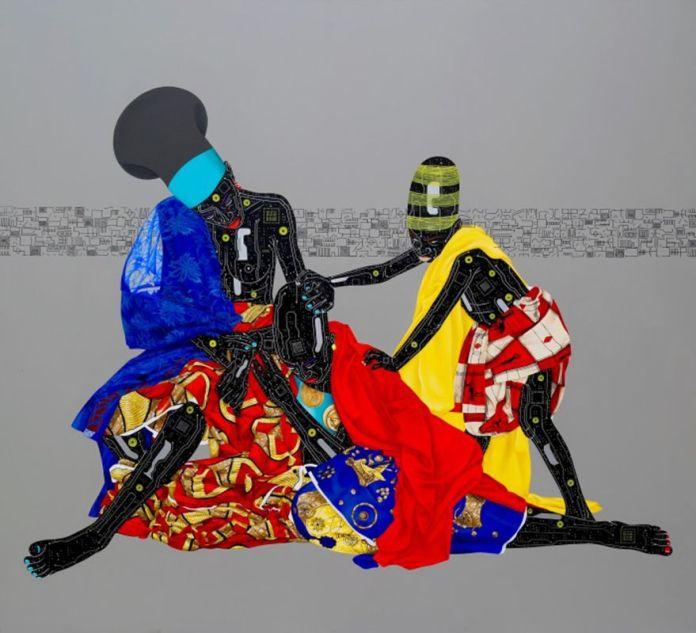 Eddy Kamuanga Ilunga, Oubliez le passé et vous perdez les deux yeux, 2016. Courtesy of October Gallery.