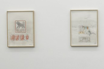 Wim Delvoye, série Cloaca Drawing et série Study, 2000-2005 - 12 dessins crayons, crayons de couleur, encre de Chine sur papier. Courtesy Wim Delvoye Studio Wim Delvoye - «Sens dessus dessous (Le monde à l'envers)» au CRAC, en 2008 à Sète.