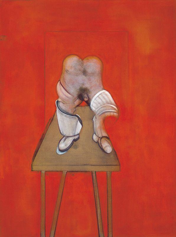 Francis Bacon Study of the Human body 1981-1982 CR82-01 Huile et pastel sur toile 198 x 147,5cm Paris, Collection Centre Pompidou - Musée national d'art moderne - Centre de création industrielle. Service presse/Musée Fabre. Photo (C) Centre Pompidou, MNAM-CCI, Dist. RMN-Grand Palais / Philippe Migeat Droits d'auteur:© The Estate of Francis Bacon /All rights reserved / Adagp, Paris and DACS, London 2017