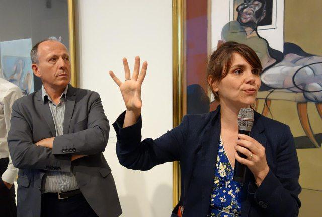Cécile Debray et Michel Hilaire, commissaires de Francis Bacon - Bruce Nauman - Face à face au Musée Fabre, Montpellier