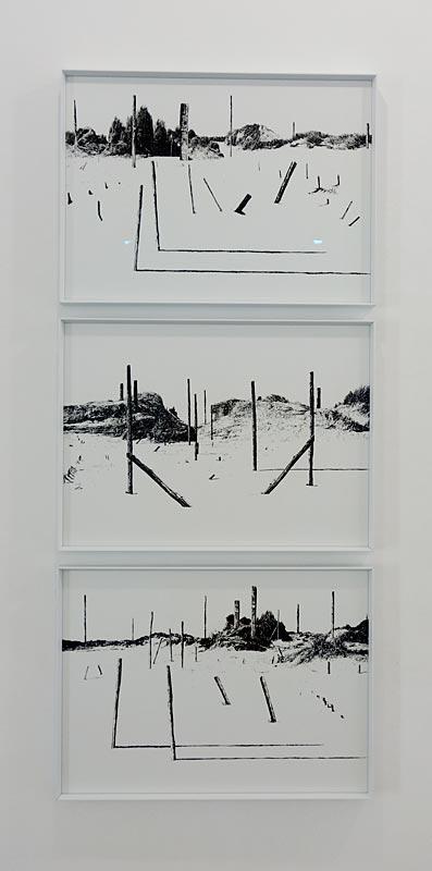 Julien Cassignol, Sans tire 1, 2 et 3, 2017 - Encre de chine sur papier, 41,5 x 30 cm