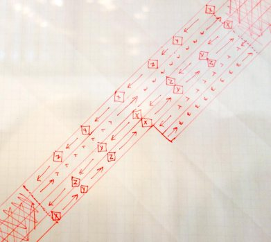 Lucinda Childs, Partition chorégraphque pour Katema, 1978 - A different way to move - Minimalismes 02