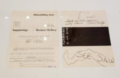 Programme pour happening à la Ruben Gallery, 1960 - A different way to move - Minimalismes