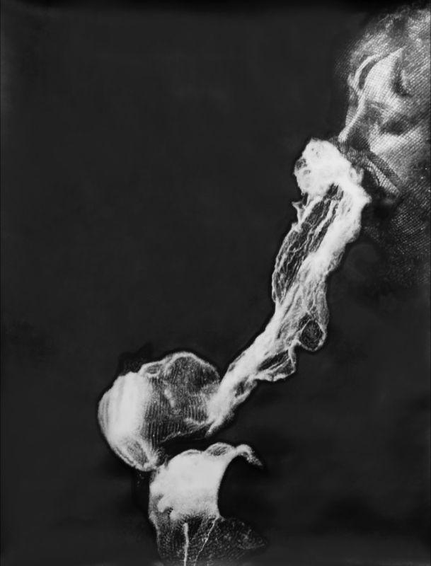 Eric Manigaud, Stanislawa P., 2012, crayons et poudre graphite sur papier, 170 x 133 cm