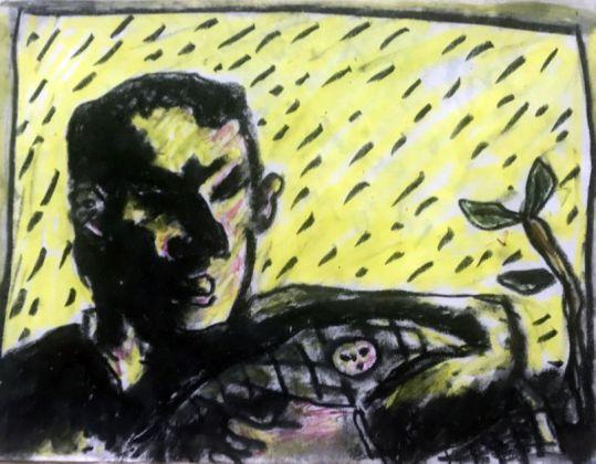 Jean-Charles Blais, L'amour, L'amour !, 1982, Craies grasses et crayon de couleurs sur papier, 26,2 x 34,5 cm. Collection Jean-Charles de Castelbajac - Drawing room 017