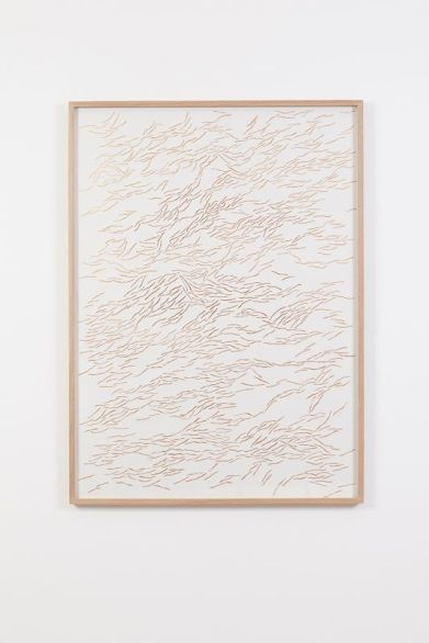 Galerie Virginie Louvet - Giulia Manset, Variation III, 2017, papier découpé au scalpel et peinture acrylique, 112 x 82 cm