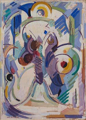 Albert Gleizes, La libellule, 80x57cm, huile, panneau, 1952 - FAG