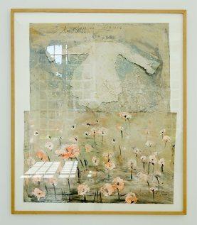 Anselm Kiefer, Les Reines de France, 2001. Peinture et crayon sur photographie