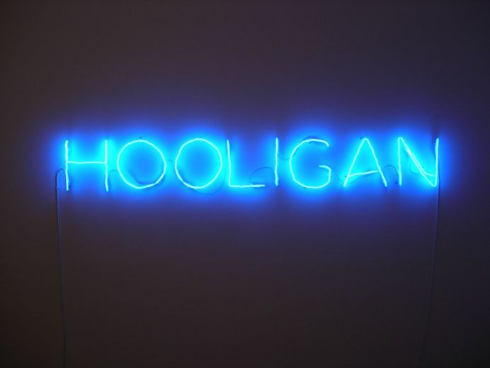 "Claude Leveque, Hooligan, 2006. ADAGP Paris 2017. Courtesy the artist and Kamel Mennour Paris London - Exposition ""Nous sommes Foot"" au Mucem - Marseille"