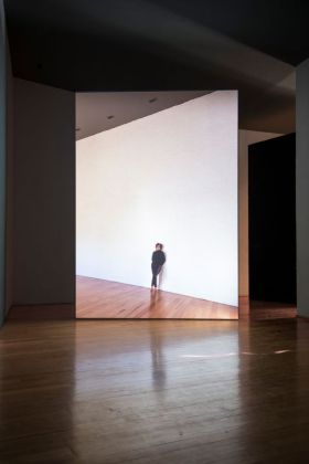 El Eco, 2014, 35 mm film transferred to HD, Duration 11 min. 18 sec. (loop), Projected dimensions variable, Installation view, Museo Experimental El Eco, San Rafael