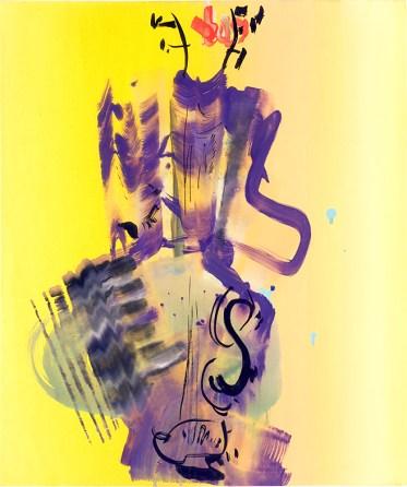 Stéphane Calais, La mandoline à Calais, 50x60x7,5cm, huile sur toile, 2008 - Courtoisie de l'artiste