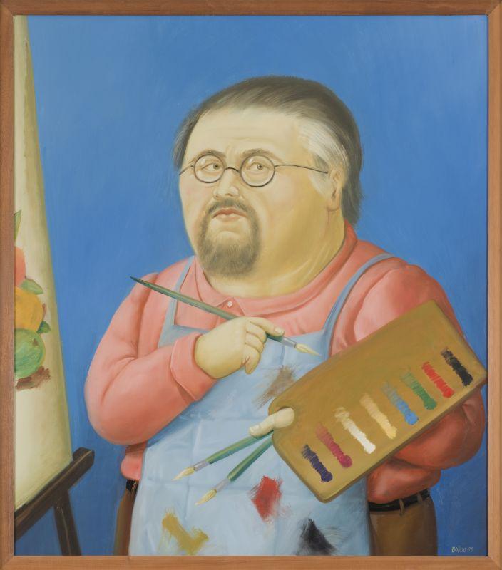 Fernando Botero Autoportrait 1998 Huile sur toile 92,7 x 81,28 cm Collection privée © Fernando Botero / Photo: Christian Moutarde