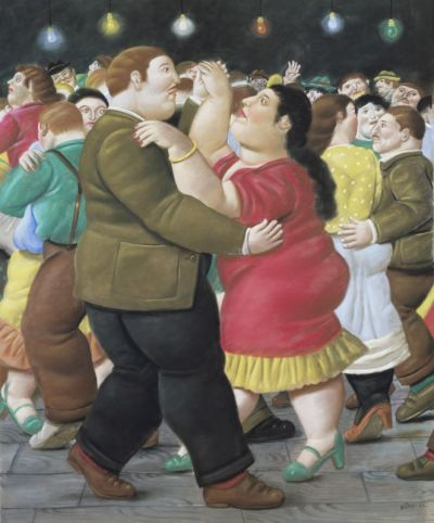 Fernando Botero, Danseurs, 2002 Pastel sur papier 142 x 118 cm Collection privée © Fernando Botero