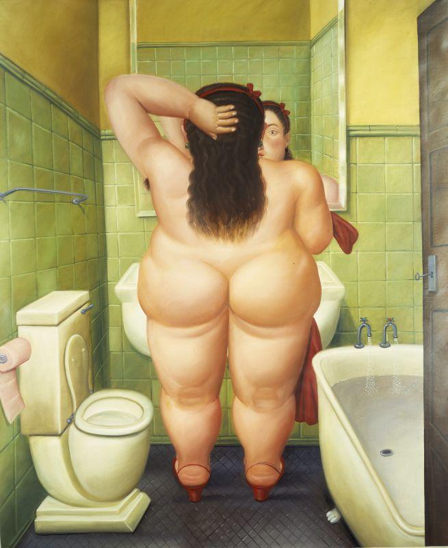 Fernando Botero, La salle de bain, 1989 Huile sur toile 249 x 205 cm Collection privée © Fernando Botero