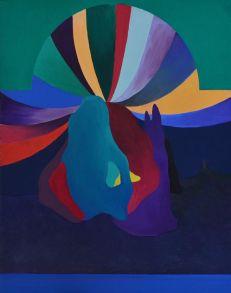 Groc Florent, Le cirque, huile sur bois, 29,1 cm x 36, 4 cm, 2017