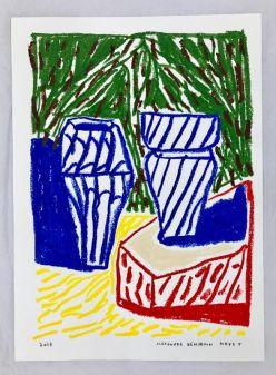 Navet Alexandre Benjamin, Série Marseille 1, pastel, 49 cm x 59,4 cm, 2017