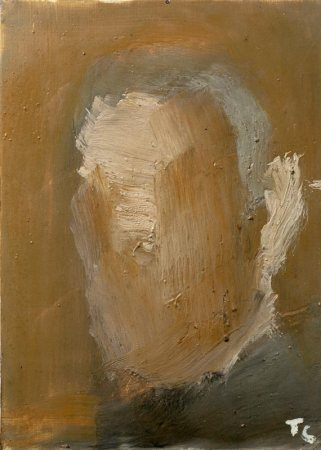 Pierre Tal Coat, Autoportrait, 1982 Huile sur toile 32,7 x 24 cm Fonds Tal Coat – Domaine de Kerguéhennec - Collection Département du Morbihan Photo : Illès Sarkantyu, © collection Département du Morbihan, © ADAGP Paris 2017