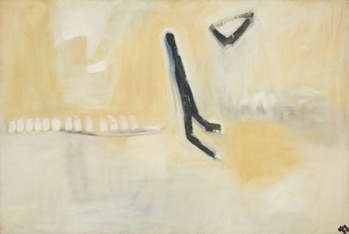 Pierre Tal Coat, Passage, 1957 Huile sur toile 130 x 195 cm Fondation Gandur pour l'Art, Genève, inv. FGA-VA-TALCO-0003 Photo : Sandra Pointet, © Fondation Gandur pour l'Art, © ADAGP Paris 2017