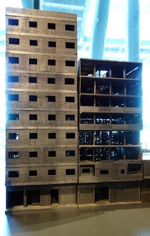 ETH Zürich (Suisse), Département d'architecture, Maquette du quartier d'Ard-el-Liwa Le Caire 2015 - Montage vidéo Timothée Vigile - Connectivités au Mucem - La Méditerranée aujourd'hui