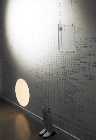 Maxime Rossi - Christmas on Earth Continued au MRAC - Vue de l'exposition - Mur à droite (détail)