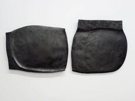 Vladimir Skoda, Sans titre, 1978, diptyque, acier forgé, 35 x 34 x 2 cm, 40 kg