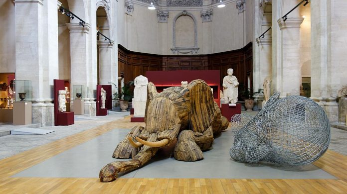 Andries Botha, Wounded Elephant, 2008 - Les Eclaireurs - Musée Lapidaire