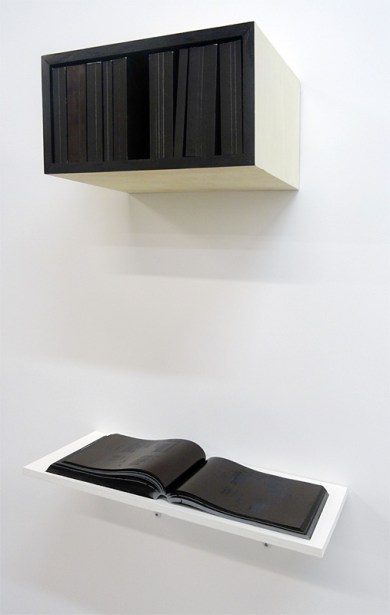 Nicolas Daubanes, Les Livres noirs, 2016 - Pareidolie 2016 - Galerie Maubert