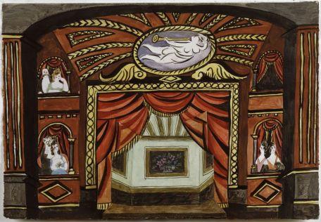 Pablo Picasso, Projet de décor pour le ballet Cuadro Flamenco , suite de danses andalouses, 1921 Gouache au crayon graphite sur feuilles de papier découpées et collées, 23,5 x 34 cm Musée national Picasso-Paris. Dation Pablo Picasso, 1979. MP1824 © Succession Picasso Photo © RMN-Grand Palais (Musée national Picasso-Paris) / Image RMN-GP. Picasso et les Ballets russes, entre Italie et Espagne au Mucem
