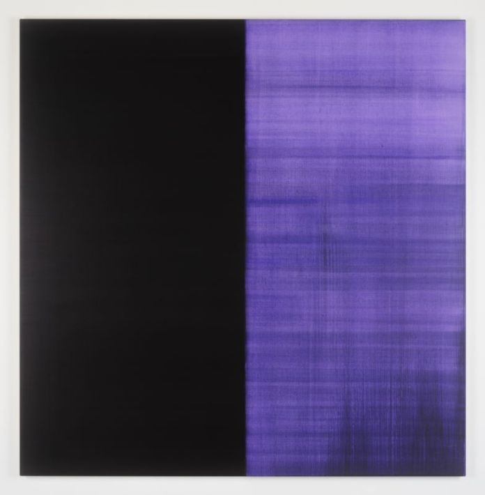 Callum Innes, Untitled No.22 Lamp Black, 2017, Huile sur toile, 235 x 230 cm