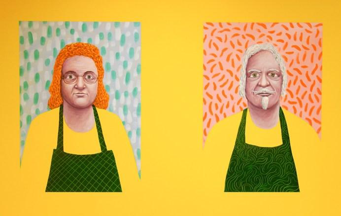 Nicolas Party, Portrait de Monsieur et Madame Arnaudo, 2017 - La Vie simple – Simplement la vie à la Fondation Vincent van Gogh Arles
