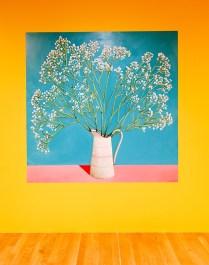 Nicolas Party, Nature morte avec fleurs provenant du magasin Marinette. Pot de la directrice, 2017- La Vie simple – Simplement la vie à la Fondation Vincent van Gogh Arles