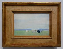 Nicolas de Staël, Paysage à Lagnes, 1953 - l'Hôtel de Caumont - Salle 1 - « Paysages de marche », à la découverte du Vaucluse