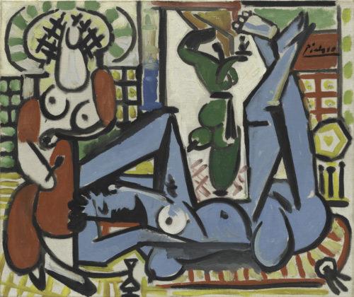 Pablo Picasso Les Femmes d'Alger , d'après Delacroix - variation E 1955 Huile sur toile 46 x 55 cm San Francisco, SFMOMA San Francisco Museum of Modern Art - Gift of Wilbur D. May © Succession Picasso 2018 - Picasso, voyages imaginaires à la Vieille Charité - Marseille