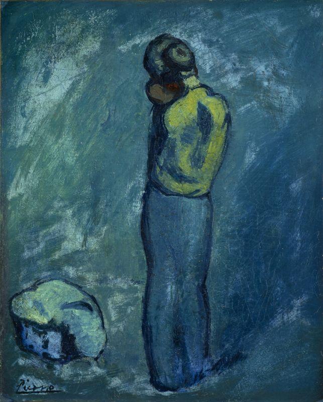 Pablo Picasso Mère et enfant 1902 huile sur toile 40.5 x 33 cm Edimbourg, National Galleries of Scotland © Succession Picasso 2018 - Picasso, voyages imaginaires à la Vieille Charité - Marseille