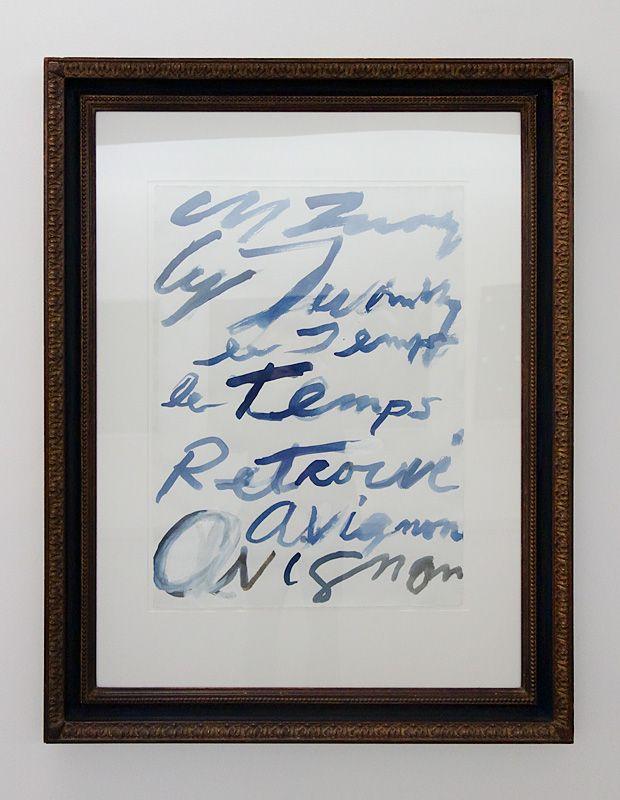 Cy Twombly, Le Temps retrouvé, avril 2011 - J'♥ Avignon à la Collection Lambert