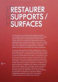 Dans le Secret des œuvres d'art au Musée Fabre - Restaurer Supports-Surfaces ; une toile libre de Claude Viallat