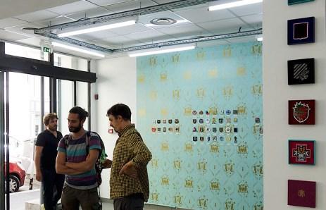 Exposition Blazers-Blasons à la galerie Tchikebe rue du Chevalier Roze à Marseille