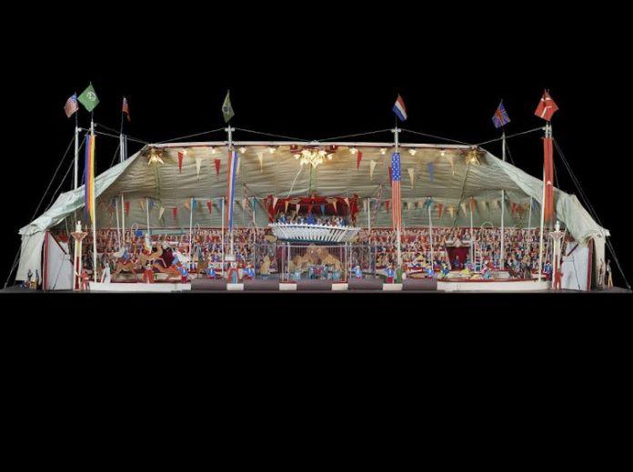 Maquette du cirque Berger - L'Universal Circus Pir'Ouett - © Mucem