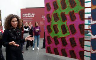 Dans le Secret des œuvres d'art au Musée Fabre - Restaurer Supports-Surfaces ; une toile libre de Claude Viallat - Marina Bousvarou