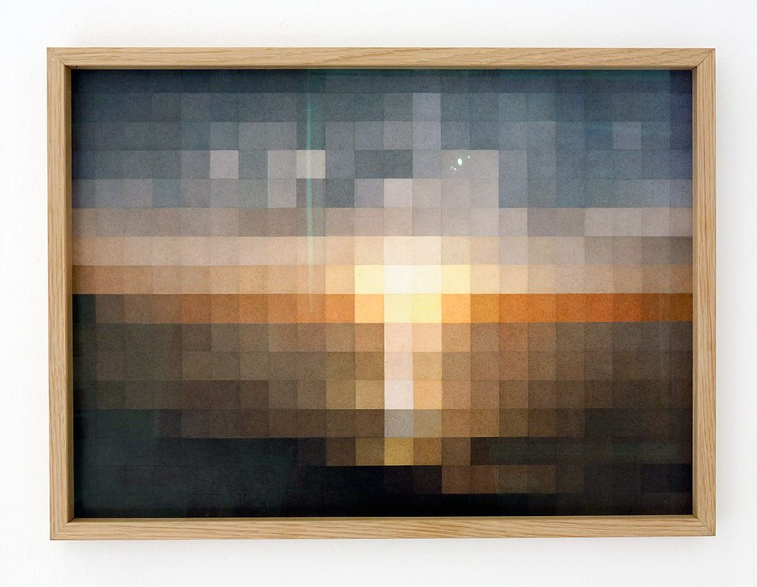 Stéphanie Majoral, Ciel #4 (coucher de soleil - Plage d'Erromardie), 2018 – In between à Iconoscope