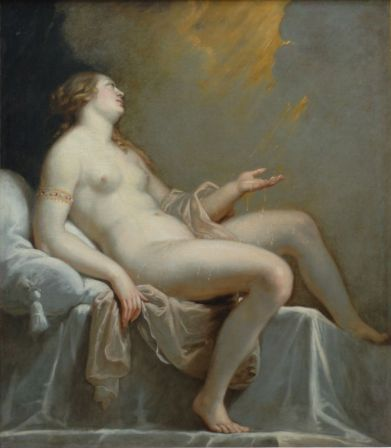 Jean-Laurent Mosnier (attribué à), Danaé, 1786—1808. Huile sur toile, 148 × 129 cm. Musée des Beaux-Arts de Rouen © Musée de la Métropole Rouen Normandie