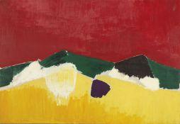 Nicolas de Staël, Paysage de Sicile, 1953, huile sur toile, 87,5 x 129,5 cm, collection privée/dépôt au Fitzwilliam Museum, Cambridge © Adagp, Paris, 2018, photo : © The Fitzwilliam Musuem, Cambridge