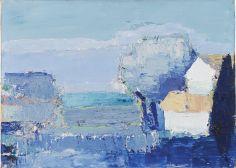 Nicolas de Staël, Paysage de Provence, 1953, huile sur toile, 33 x 46 cm, Museo Thyssen-Bornemisza, Madrid © Adagp, Paris, 2018, photo : © Museo Thyssen-Bornemisza, Madrid