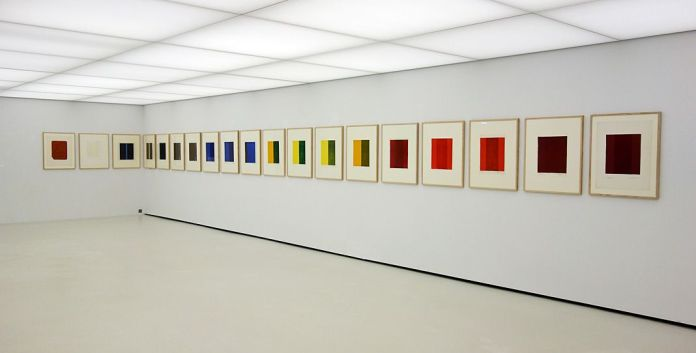Barnett Newman, Cantos, 1963-1964 - Djamel Tatah à la Collection Lambert - Vue de l'exposition, salle 7