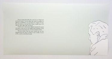 Djamel Tatah, Albert Camus - Carnets, 2017 - Djamel Tatah à la Collection Lambert - Vue de l'exposition, salle 8