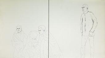Djamel Tatah, Fragments : Atelier de dessin, 2017 - Collection Lambert - Vue de l'exposition, salle 9