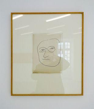 Henri Matisse, Autoportrait, 1945 - Djamel Tatah à la Collection Lambert - Vue de l'exposition, salle 6
